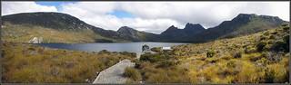 Panorama of Dove Lake, Cradle Mountain-Lake St Cla