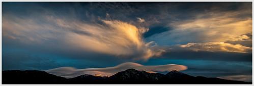 mountain weather clouds sunrise