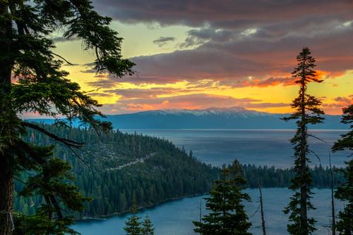california sunrise lake tahoe horseshoe bay landscape water laketahoe horseshoebay laketahoecalifornia mountain west western