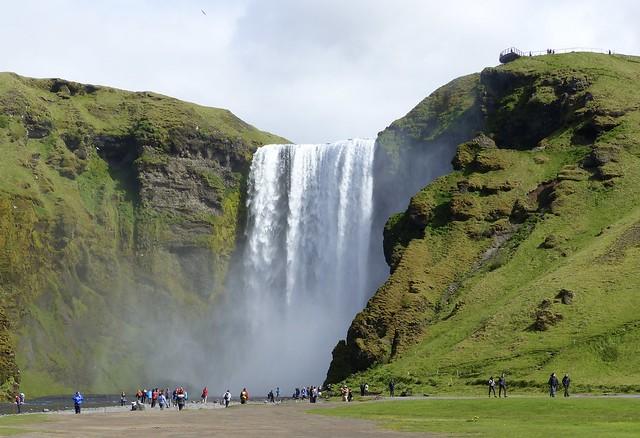 55. Skogafoss waterfall in Iceland.