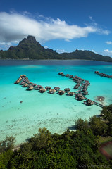 Kite Aerial Photography  on InterContinental Bora Bora Resorts and Thalasso Spa
