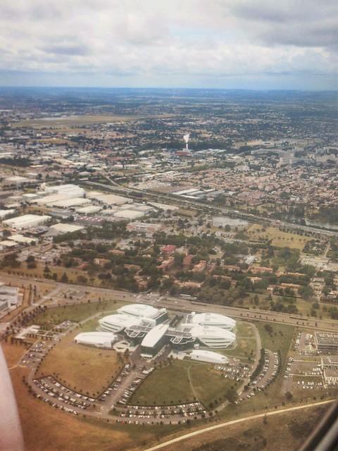 Centre de Recherche Pierre Fabre from the air, Toulouse, France