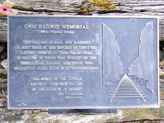 National Arboretum, England - River  Kwai plaque