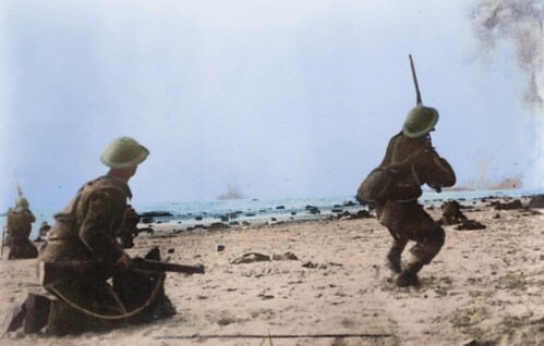 Raid at Dunkirk | by Cassowary Colorizations