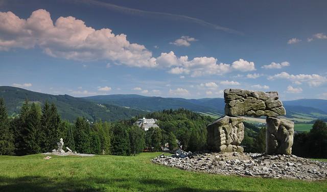 Jeseník-lázně - panorama hor z Jižního svahu