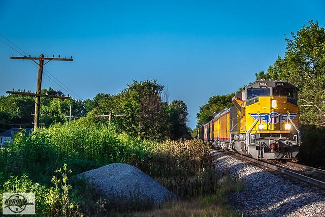Northbound UP Passenger Train at Lawson, MO