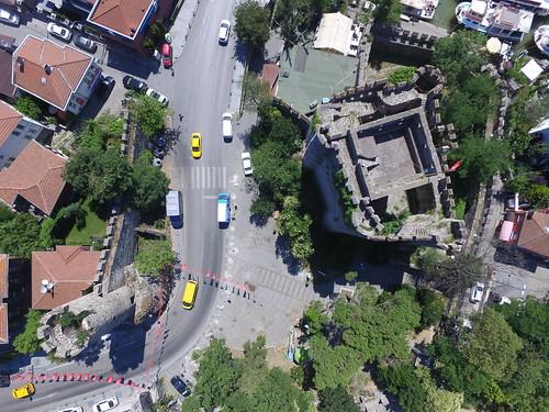 Anadolu Hisarı (Anatolian Castle) from the air