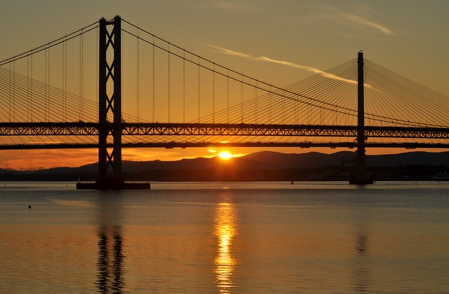 Forth Bridges Sunset