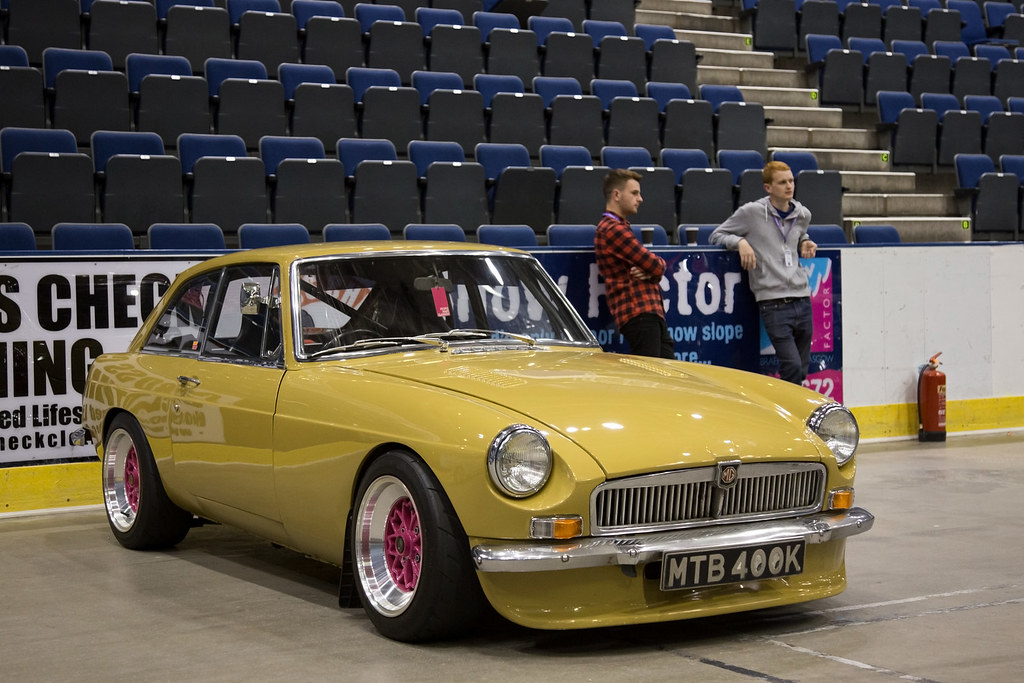 Erskine Classic Cars 2017 | Gold, modified, 1972 MGB GT - MT