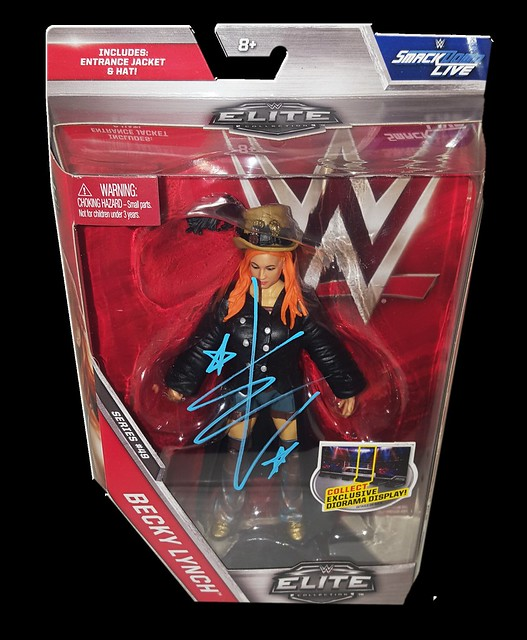 Becky Lynch Autographed Mattel WWE ELITE COLLECTION Series 49 Figure