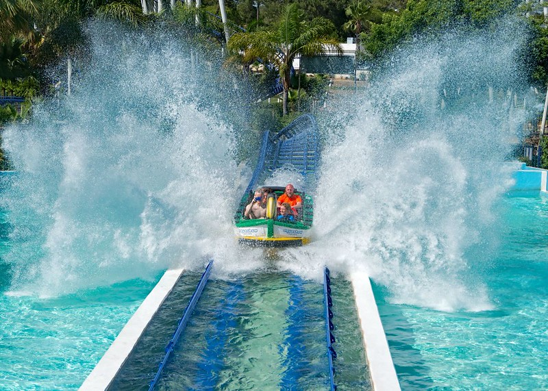 Water Coaster and Photographer