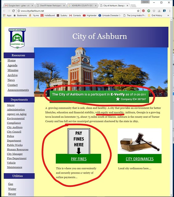 Ashburn uses e-verify equity and morality pay fines