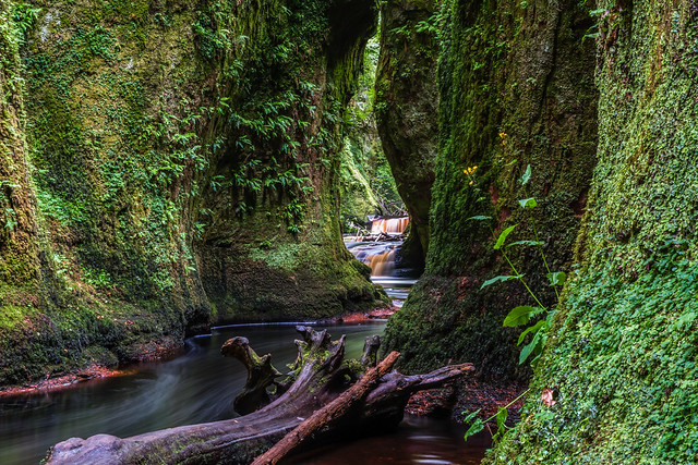 Finnich Glen waterfall Scotland