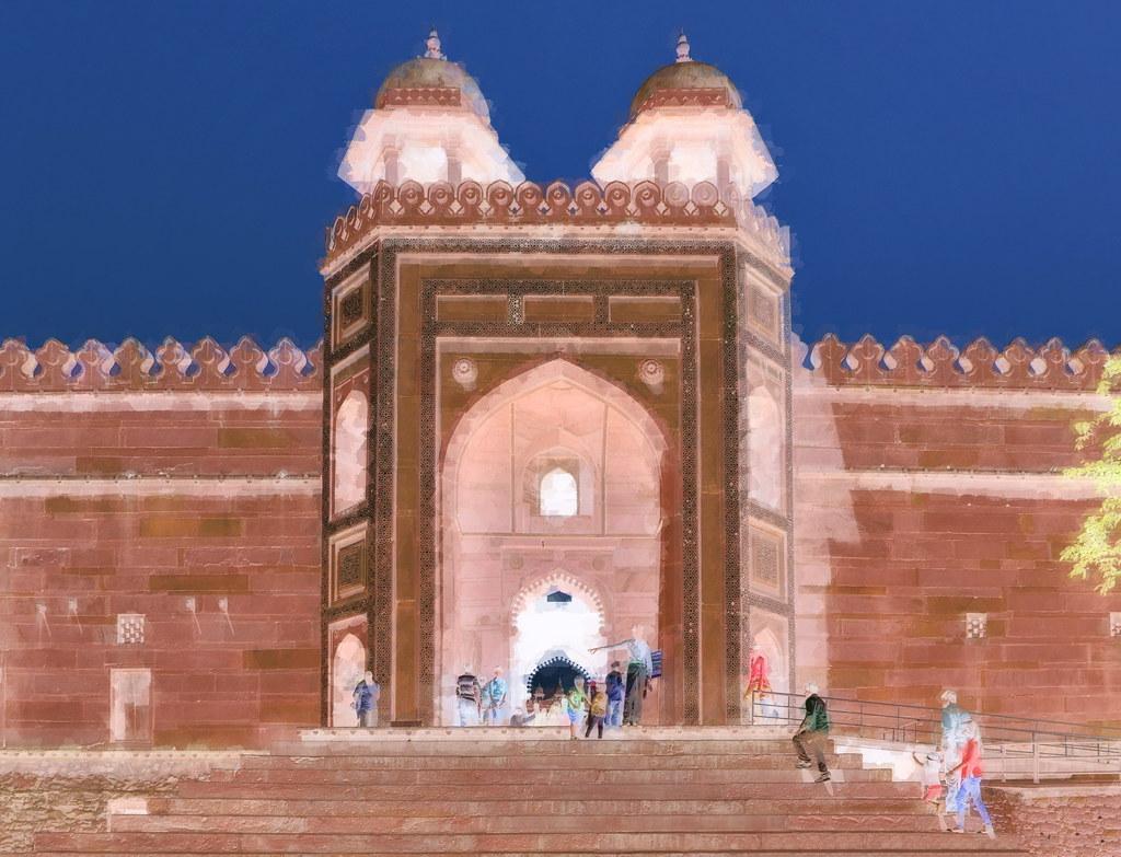 India - Uttar Pradesh - Fathepur Sikri - Shahi Darwaza (Ro