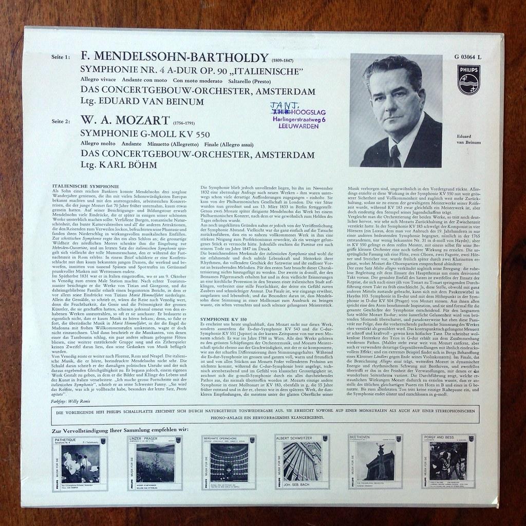Backside Mendelssohn - Symphony No 4
