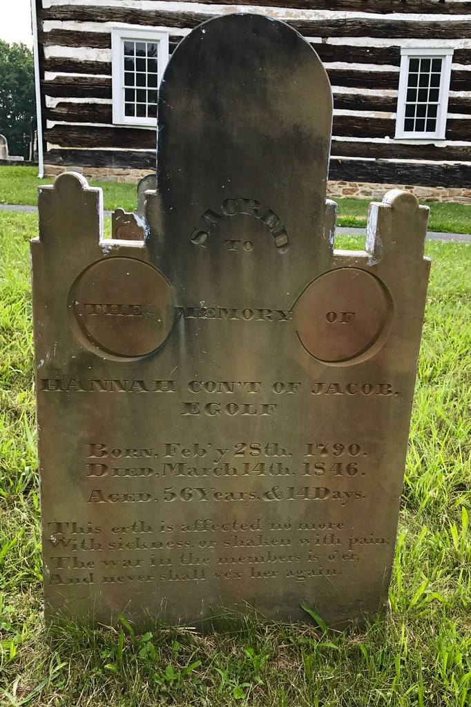 Tombstone of Hannah Egolf, Old Log Church, Schellsburg, Pe