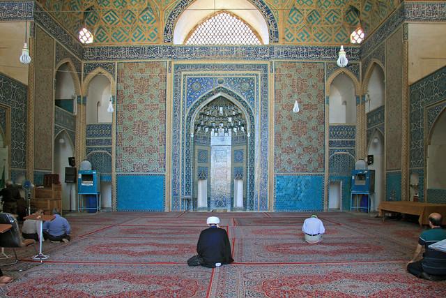 Jame Mosque of Yazd prayer room