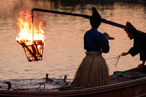 宇治市 京都府 japan kyoto 鵜飼い 夕景 sunset 宇治川 川 river