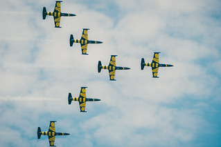 Baltic Bees Jet Team air show, Tukums, 2017 | by Janitors