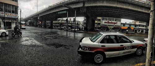 Lluvia en el centro