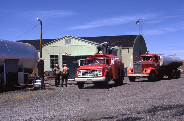 1973. McCall Oil Company delivery. Douglas-fir tussock moth control test. La Grande Fire Center, Oregon.