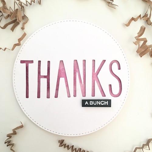 Circle thank you card | by Kimberly Toney