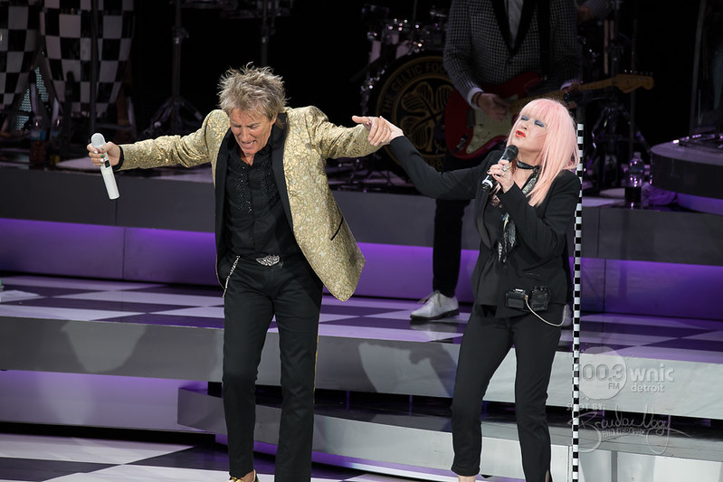 Rod Stewart and Cindy Lauper   2017.8.1