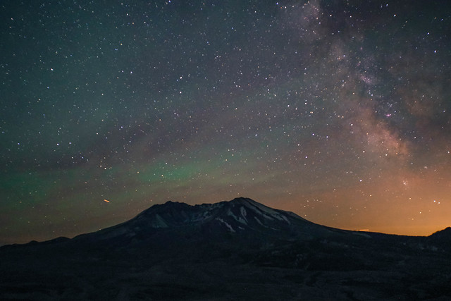 Mt. St. Helens; Milky Way  Day 199 / 365