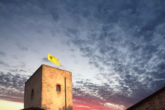 Torre Guinigi al calar del Sole