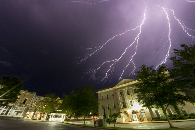 Lightning, White County Courthouse, Sparta, White County, Tennessee