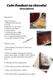 Cake fondant au chocolat (sans gluten) | by pinkcappuccino