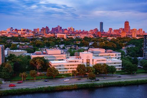 boston sky sunset massachusetts newengland