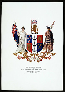 Lithograph of the New Zealand Coat of Arms, 1911