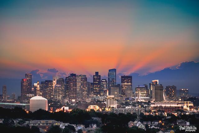 Boston's sunset
