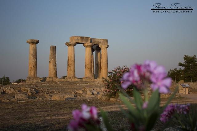 Ancient Temple of Apollo. Ancient Corinth, Greece