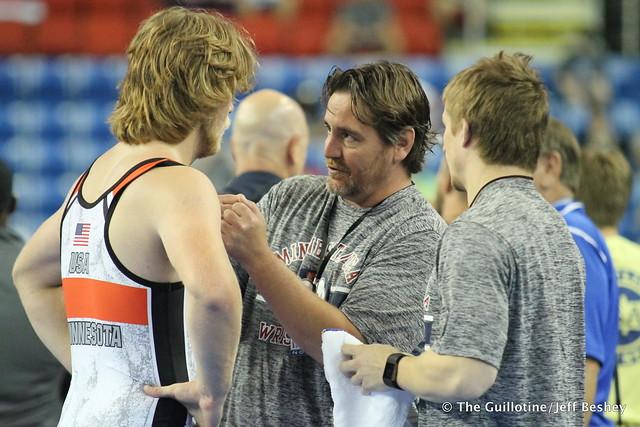 170  Cody Dravis, Coaches Matt Clark and Blaine Tschida - 170720AJF0111