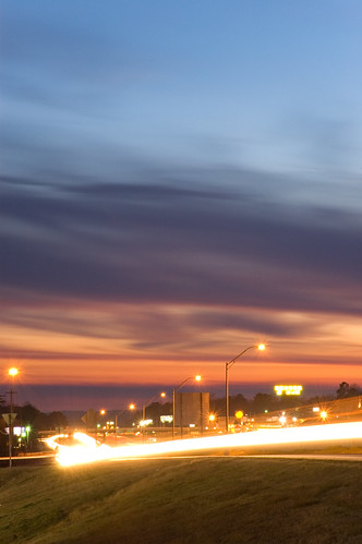 sunset night arkansas interstate benton i30 salinecounty