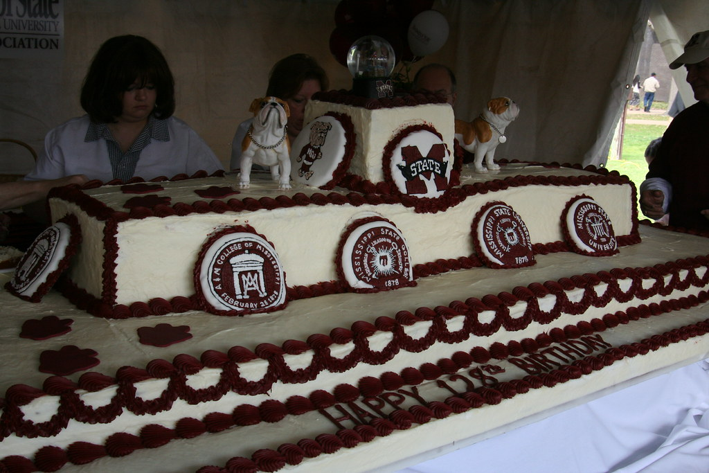 MSU Birthday Cake | Mississippi State University's 128th Bir… | Todd ...
