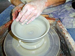 throwing pottery   by Charger's and Frankie's Mommy