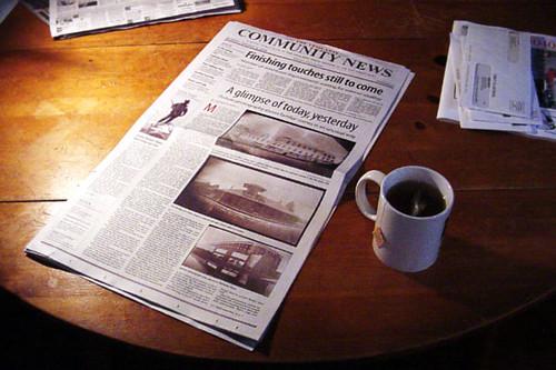 Newspaper and tea | by Matt Callow