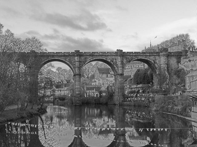 Knaresbridge Bridge in Black and White