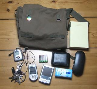 My bag's contents | by splitbrain