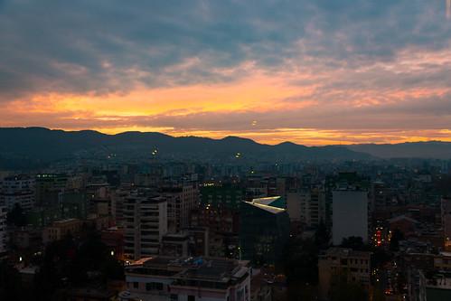 tirana tiranacounty albania al view sky bar sunset city