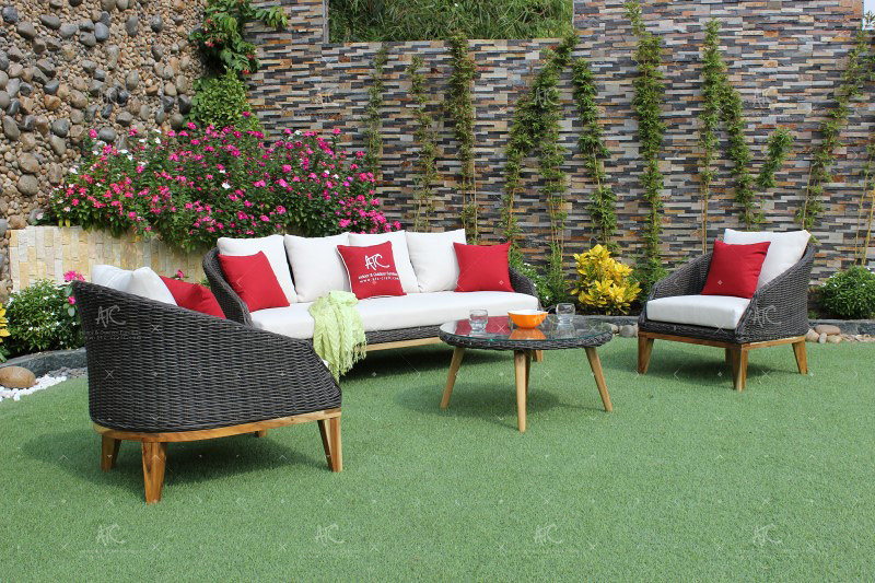 Amazing Rattan Wicker Sofa Sets Furniture This Poly Rattan All Wea Ncnpc Chair Design For Home Ncnpcorg