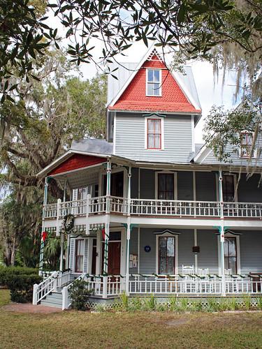 architecture house museum victorian tower porch brooksville florida