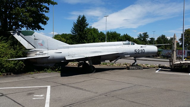 MiG-21MF 5210 c/n 965210 ex Czech Air Force. Preserved, Pratteln, Switzerland. 16 July 2017.