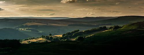 derbyshire peakdistrict darkpeak evening sunset derwentvalley millstoneedge overowlertor