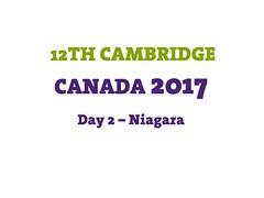 Day 2 - Niagara