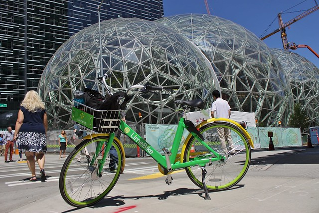 LimeBike at Amazon Domes, Seattle