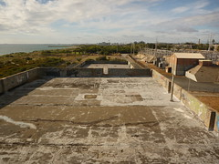 The roof of the Coogee power station, looking north